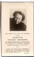 Pierre Nothomb Née Ghislaine Montens D'Oosterwijck °Anvers 1899+1961 Bruxelles Photo De Meester Habay-la-Neuve - Obituary Notices