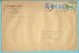 LP11(Douglas) + 426+714 Op ECHANTILLONS SANS VALEUR (staal Zonder Waarde) / PAR AVION Stempel GENT Naar Argentine (VK) - Airmail