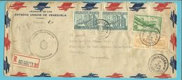 LP11(Douglas) +710+772 Op Brief Aangetekend PAR AVION Stempel BRUXELLES Naar Venezuela - Airmail