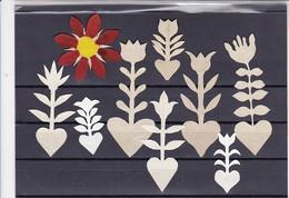 Orig. Scherenschnitte - Sammlung - Verschiedene Motive Und Farben - 1948 (32627) - Papel Chino