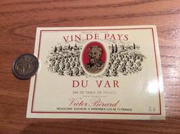 Etiquette «VIN DE PAYS DU VAR - Victor Bérard - Varennes Les M. (71)» - Vino Rosado