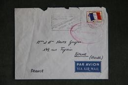 Lettre De MADAGASCAR à FRANCE ( Franchise Militaire) - Tampon 2ème Régiment Parachutiste. - Madagascar (1960-...)