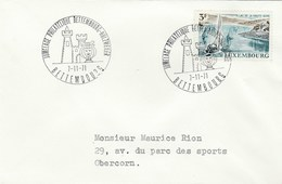 1971 Luxembourg TWINNING  EVENT COVER Pmk  BETTEMBOURG HULZWEILER , Franked 3f SAILING LAKE HAUTE SURE Sport - Luxembourg