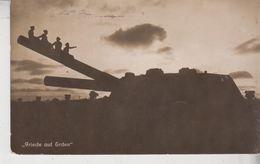 Friede Auf Erden - Soldaten Sitzen Auf Geschützrohr Auf Helgoland Tank Carro Armato - Guerra 1914-18