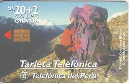 PERU - Trekking, Telefonica Telecard, Tirage 60000, 07/98, Used - Peru