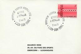 1971 ARDENNES EIFEL EUROPEAN CONGRESS EVENT COVER Insenborn Luxembourg Stamps EUROPA - European Ideas