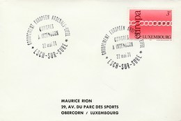 1971 ARDENNES EIFEL EUROPEAN CONGRESS EVENT COVER Insenborn Luxembourg Stamps EUROPA - Luxembourg