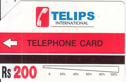 PAKISTAN(Urmet) - Telips Test Card Rs.200(white Reverse), Tirage 100, Used - Pakistan