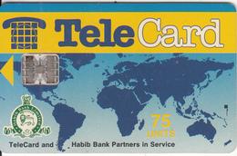 PAKISTAN - TeleCard & Habib Bank 75 Units(no Dot), Used - Pakistan