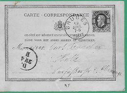 ! - Belgique - Entier Postal - Carte Correspondance - Présentant COB 30 - Cachet Du 19-04-1877 - Envoi Vers Allemagne - Stamped Stationery