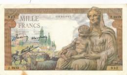H19 - Billet - 1000 FRANCS  - DÉESSE DEMETER - 1 000 F 1942-1943 ''Déesse Déméter''