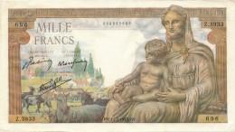 H19 - Billet - 1000 FRANCS  - DÉESSE DEMETER - 1871-1952 Anciens Francs Circulés Au XXème