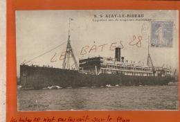Paquebot Des Messageries S.S AZAY-LE-RIDEAU Timbre Semeuse 40 C TYPE II  Cachet à Date  1931  JAN 2018 383 - Marcophilie (Lettres)