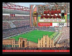 Armenia 2018 Mih. 1052 (Bl.85) AC Milan Three Times Winner Of Intercontinental Football Cup MNH ** - Armenia