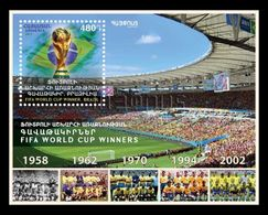 Armenia 2018 Mih. 1053 (Bl.86) Brazil Football National Team Five Times Winner Of FIFA World Cup MNH ** - Armenia