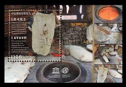 Armenia 2018 Mih. 1054 (Bl.87) UNESCO World Heritage. Gastronomy. Bread. Lavash MNH ** - Armenia