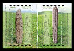 Armenia 2018 Mih. 1055/56 (Bl.88) Archeological Finds. Dragon-stones MNH ** - Armenia