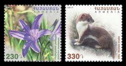 Armenia 2018 Mih. 1058/59 Flora And Fauna. Ixiolirion And Least Weasel MNH ** - Armenia