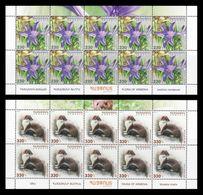 Armenia 2018 Mih. 1058/59 Flora And Fauna. Ixiolirion And Least Weasel (2 M/S) MNH ** - Armenia