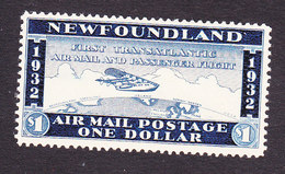 Newfoundland, Scott #, Mint Hinged, Not Issued Airmail, Issued - Newfoundland