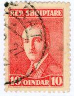 ALBANIA, COMMEMORATIVO, ZOGU, 1925, FRANCOBOLLO USATO, 1 Q.  Yvert Tellier 166   Scott 186 - Albania