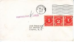 U.S.  POSTAGE  DUE COVER  1958 - Postage Due