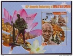 Maldives 2013 Gandhi Sheet - IMPERF Plastic S/S - Rare And Unusual - Mahatma Gandhi