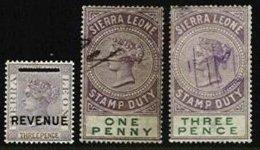 SIERRA LEONE, Revenues, */o M/U, F/VF, Cat. £ 8 - Sierra Leone (...-1960)