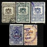 SYRIA, Revenues, Used, F/VF - Syria (1919-1945)