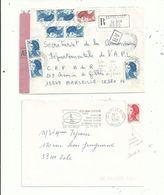 """5 L (dont 3 Lr ) Avec Des """"Liberté""""  En Affranchissements............à Voir....... - 1982-90 Liberty Of Gandon"""