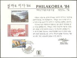 STATI UNITI - USA - 1984 - Cancelled Souvenir Card - Philakorea '84 - Cartes Souvenir