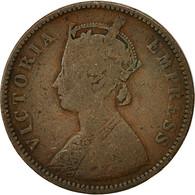 INDIA-BRITISH, Victoria, 1/4 Anna, 1877, TB+, Cuivre, KM:486 - Inde