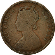 INDIA-BRITISH, Victoria, 1/4 Anna, 1877, TB+, Cuivre, KM:486 - India