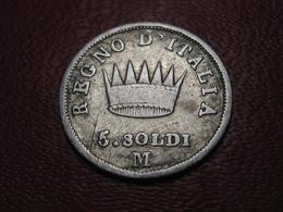 Italie - 5 Soldi 1813 M 4836 - Temporary Coins