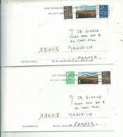2L DES USA Avec Timbres LAMOUCHE ( Dont 1 Photocopie) Oblitérées LAS VEGAS & SAN FRANCISCO....oct.2006...........à Voir. - Marcofilia (sobres)