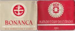PORTUGAL - AUTOMOVEL CLUB  DE PORTUGAL - MAPA DO ESTADO DAS ESTRADAS 1963 - MOBIL OIL ADVERTISING - Roadmaps