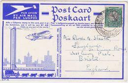 "SOUTH AFRICA UK GB 1936 ILLUSTR. AIRMAIL PC JOHANNESBURG PM "" Empire Expo"" TO U.K. - Afrique Du Sud"