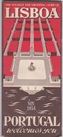 PORTUGAL TOURISM BROCHURE - LISBOA 1954 - Dépliants Turistici