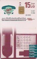 JORDANIA : JORA05A 15JD Green Telephone      11/97 USED - Jordan