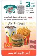 JORDANIA : JORA11 3JD MacDonalds           01/98 MINT - Jordan