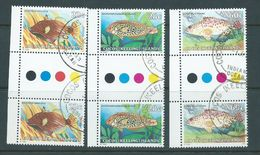 Cocos Keeling Island 1979  22c 28c & 60c Fish Definitives Gutter Pairs FU - Cocos (Keeling) Islands