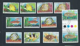 Cocos Keeling Island 1979 Fish Definitives Duplicated Group Of 12 VFU - Cocos (Keeling) Islands
