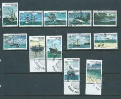 Cocos Keeling Island 1976 Ship Decimal Definitive Set 12 VFU All Special Cocos Cds - Cocos (Keeling) Islands