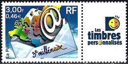 France 2002 - 3nd Millenium + Label ( Mi 3505 - YT 3365B ) MNH** - France