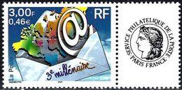 France 2002 - 3nd Millenium + Label Cérès ( Mi 3505 - YT 3365B ) MNH** - France