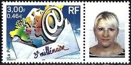 France 2000 - 3nd Millenium + Label Woman's Face ( Mi 3505 - YT 3365A ) MNH** - France