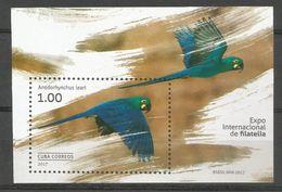 Cuba 2017 Brazil Philatelic Exhibition Birds S/S MNH - Cuba