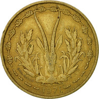 West African States, 25 Francs, 1971, Paris, TTB, Aluminum-Bronze, KM:5 - Ivory Coast