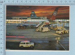 Montreal - Aeroport Airport, A Striking Night View With An Air Canada DC 8 In The Foreground Vue - Montreal