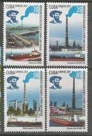 Cuba 2017 Oil Factory, Ships 4v MNH - Cuba